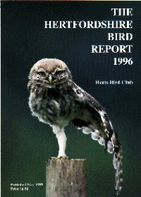 The Hertfordshire Bird Report 1996
