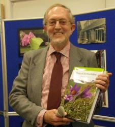 Trevor James at the launch of his book, Flora of Hertfordshire
